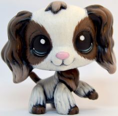 (sold) Realistic 2254 Cocker Spaniel Dog - OOAK LPS Custom by theleyline - Hand Painted Littlest Pet Shop