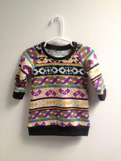 littlefour aztec print sweatshirt tunic baby by littlefourclothing, $29.75