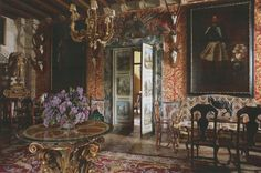 Palacio de San Benito in Cazalla, Spain, designed by its owner Manuel Morales de Jódar. The World of Interiors, January Photography by Ricardo Labougle. World Of Interiors, January 2016, Portuguese, Spanish, Photography, Painting, Design, Art, Style