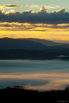 This morning's sunrise over the Mendocino Mountain Range and the Little Lake Valley in Northern California.