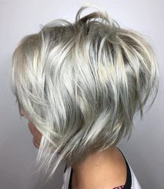 #29: Punk with an Angle Embrace that inner rock and roll with this white-blonde color combined with a short angled cut. This is a great look for fine hair, as i