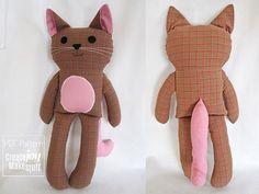 13 Cat Doll Sewing Pattern & Tutorial PDF printable