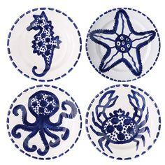VIETRI - Blu Mare Assorted Salad Plates