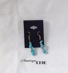 Turquoise Bohemian Authentic Gemstone Earrings by AnnetiqueChic