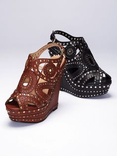 Embellished Platform Wedge Sandal - Colin Stuart - Victoria's Secret....the black is my kind of shoe!