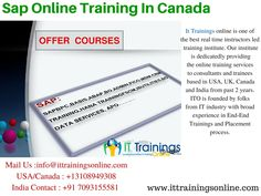 It Trainings online is one of the best real time instructors led training institute. Our institute is dedicatedly providing the online training services to consultants and trainees based in USA, UK, Canada and India from past 2 years.ITO is founded by folks from IT industry with broad experience in End-End Trainings and Placement process.