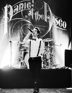 Panic at the Disco. This would make a lovely poster...or T-shirt...or phone case....how about all three?