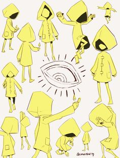 Little Nightmares by BLuwish on DeviantArt Character Concept, Character Art, Character Design, Game Design, Little Nightmares Fanart, Creepy Games, Hollow Art, Indie Games, Manga