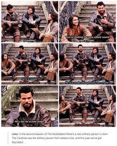 """Luke: """"In the second season of The Musketeers there's a new slithery person in town. The Cardinal was the slithery person from season one, and this year we've got Rochefort…"""""""