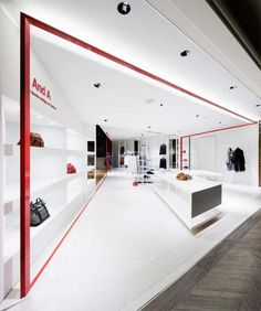 And a shop by moment design, yokohama store design store fas Retail Interior Design, Retail Store Design, Retail Shop, Interior Shop, Retail Displays, Shop Displays, Window Displays, Interior Logo, Interior Concept