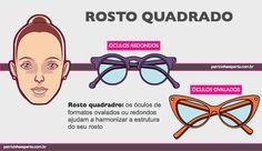 Os óculos redondos, sejam estes óculos de grau ou sejam estes óculos de sol, acabam deixando o formato do rosto ainda mais redondo, causando a impressão de que você engordou, principalmente no rosto, motivo pelo qual quem possui este tipo de rosto precisa mesmo comprar óculos quadrados, que estejam de acordo com as dicas de tamanho oferecidas mais acima. Então memorize: quem possui rosto redondo fica melhor utilizando óculos de grau ou óculos de sol com armações quadradas, ou óculos com…