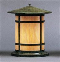 Arroyo Craftsman BC-14LGW-VP Berkeley Column Pier Mount Light