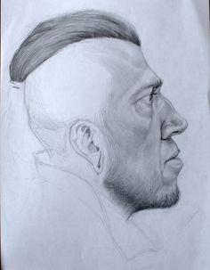 https://flic.kr/p/FsKqKs | male portrait, pencil drawing by Kirillnbb
