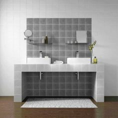 Tuscan Rustic Grey Wall Tile love this mix of white and grey Grey Wall Tiles, Ceramic Wall Tiles, Wall And Floor Tiles, Bathroom Layout, Bathroom Wall, Bathroom Interior, Bathroom Ideas, Grey Baths, Mad About The House