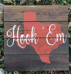 University of Texas Longhorns UT  Austin Texas by FenceandFancy
