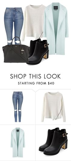 """""""Untitled #229"""" by daniellass on Polyvore featuring Topshop, MaxMara, DKNY, women's clothing, women, female, woman, misses and juniors"""