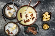 Try Fondue with onion and bacon by FOOBY now. Or discover other delicious recipes from our category main dish. Bacon Recipes, New Recipes, Food Trends, Lactose Free, Tray Bakes, Cooking Time, Food Print, Main Dishes, Carne Asada