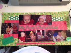 First Christmas scrapbook page