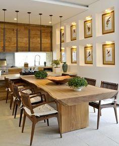 Mesas rústicas de Tablones | cocina | Pinterest | Comedores, Mesas ...