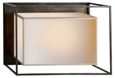 Caged Wall Sconce, Bronze