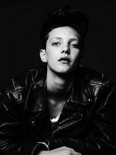 "Boy Crazy | Photograph by Hedi Slimane FORWARD PASS — Malige assessed Susannah Liguori's comb-over as ""a bit punk, a bit rocker"""