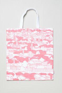 Book bag - Pink Rakuchu Rakugai / Kyototo