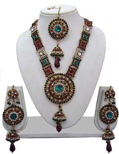 Wonderful Turquoise Necklace Set. Item code: JTF9044