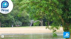 Plage aménagée de l'étang de Buhel au téléski nautique de Plessé