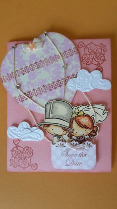 Tempo di matrimoni!! Ecco un biglietto d'auguri dedicato ai novelli sposi… Envelope Tutorial, Decoupage Vintage, Save The Date, Wedding Cards, Cardmaking, Scrapbook, Invitations, Crafts, Jewelry