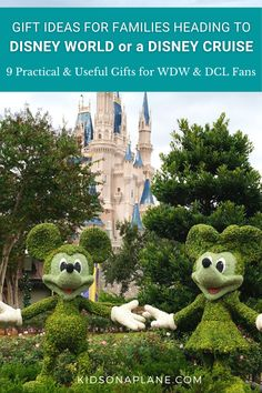 A Disney vacation – either the theme parks or a cruise – is on many families' travel bucket list. And if you've ever planned one yourself you know how time-consuming can be – and can sometimes end up being very costly. Thinking about what gifts are good to give a family heading to Disney World, Disneyland or Disney Cruise vacation in the near future? Here are a few gift ideas that will not only make Disney family vacations more memorable but also reduce some of out of pocket expenses. Packing List For Cruise, Cruise Travel, Cruise Vacation, Disney Cruise, Disney Vacations, Cruise Tips, Family Vacations, Traveling With Baby, Travel With Kids