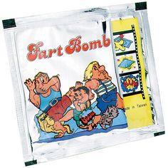 Fart Bomb Bags. $.19 each, $1.99 per dozen, $9.99 per 72ct box. http://www.partypalooza.com/Merchant2/merchant.mvc?Screen=PROD&Product_Code=FartBombBag