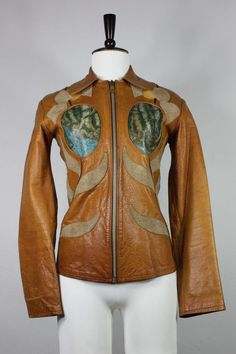 Vintage East West Musical leather jacket small S Janti 60's 70's handmade Vtg #EastWest