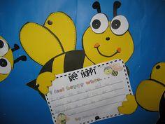Classroom Fun: Bee Happy Writing Craftivity