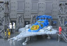 LEGO MOC | LL-497 in the hangar #928 #classic #space