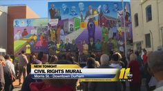 #ART #SWD #GREEN2STAY CIVIL RIGHTS MURAL UNVEILED IN DOWNTOWN DURHAM 'Thankyou,(Under 1 Min Video).