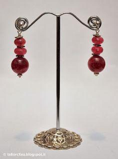 laBorcRea - bijoux e dintorni: Orecchini in Giada rubino e Argento