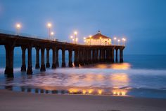 Manhattan Beach at night Secret Safe, The Secret, Manhattan Beach Pier, Angry Girl, Beach At Night, Popular Girl, Abbey Road, Walk Out, Time Of The Year