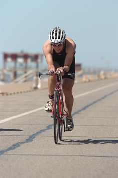The Ironman 70.3 Triathlon is Sunday, April 7 at Moody Gardens in Galveston, Texas. They are already practicing along Seawall!