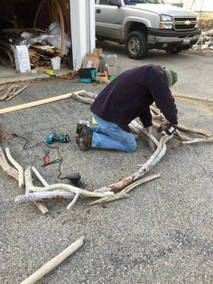 Decorative Maine Driftwood Arch  Wedding arches have been used to replace alters for centuries, and are said to be symbolic of the home in