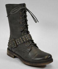 Gray Mid Boot