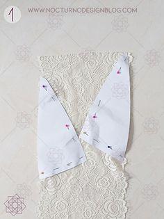 Costura fácil: Bustier en encaje. – Nocturno Design Blog Underwear Pattern, Design Blog, Baby Dolls, Diy And Crafts, Fancy, Sewing, How To Make, Pink, Bralettes