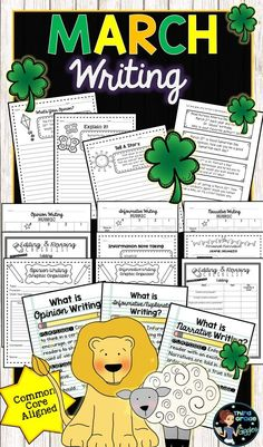 These March writing prompts are perfect for any classroom! Includes prompts, rubrics, graphic organizers, and more! Each genre is included-Opinion, Explanatory, and Narrative.