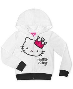 #hellokitty white graphic hoodie