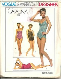 1970s Catalina Swimsuit Vogue American Designer Strap by kinseysue