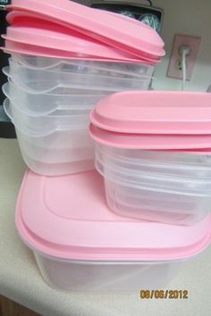 PINK KITCHEN CONTAINERS
