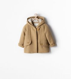 HOODED SHORT COAT WITH BUTTON