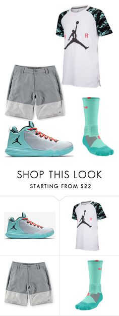 """Boys Sporty 31"" by tobyla on Polyvore featuring men's fashion, menswear, nike, jordans, elitesocks and teenboys"