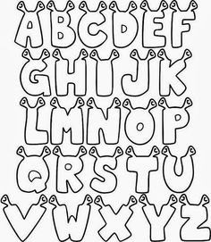 Alphabet Coloring Pages Alphabet Coloring Pages, Coloring Books, Shrek Costume, Alphabet Templates, Senior Shirts, Hand Lettering Alphabet, Letter Stencils, Lettering Styles, Letter Art