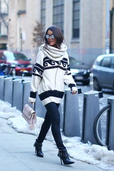 Western Feel - Camila wearing: Isabel Marant Sweater, J Brand Jeans, Carmen Steffens Boots and Dior Purse.