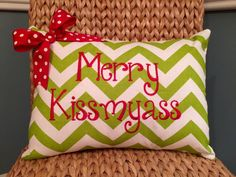 Customize yourself Christmas embroidered pillow cover by MamaBern
